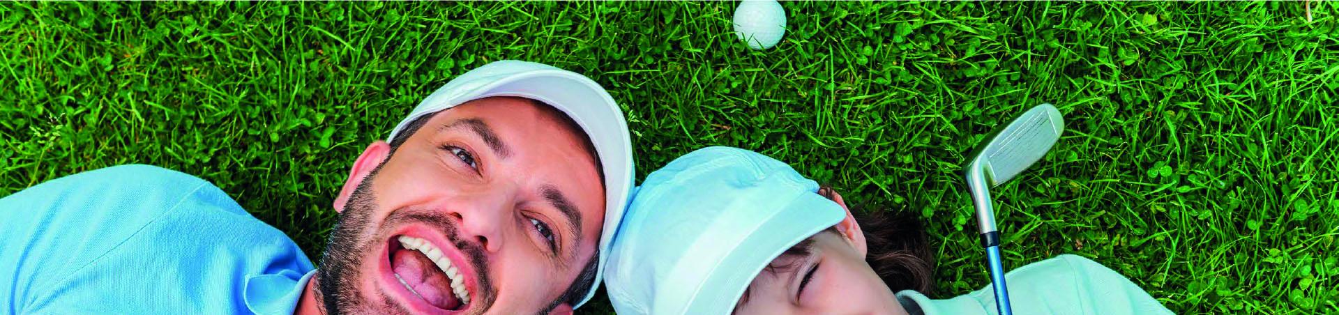 Pa & dochter golfen